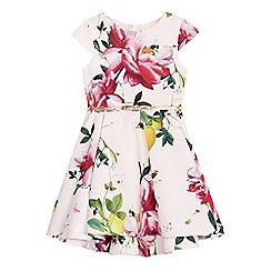Baker by Ted Baker - Girls' light pink floral print belted prom dress