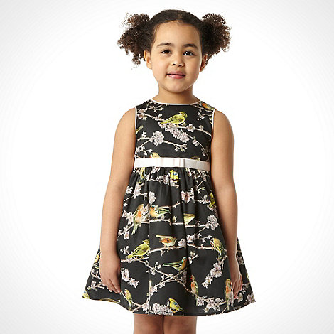 Baker by Ted Baker - Girl+s black bird dress