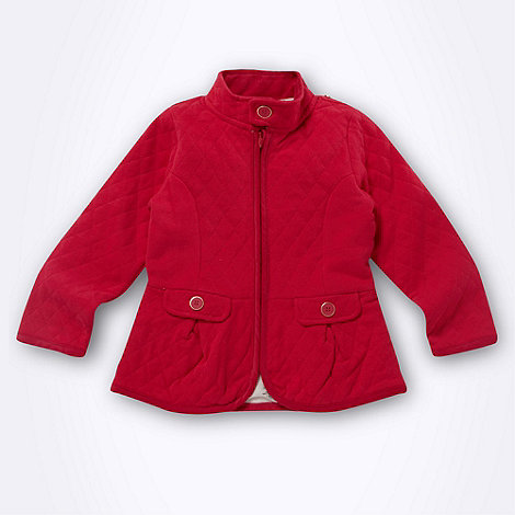 Baker by Ted Baker - Girl+s bright pink quilted jacket