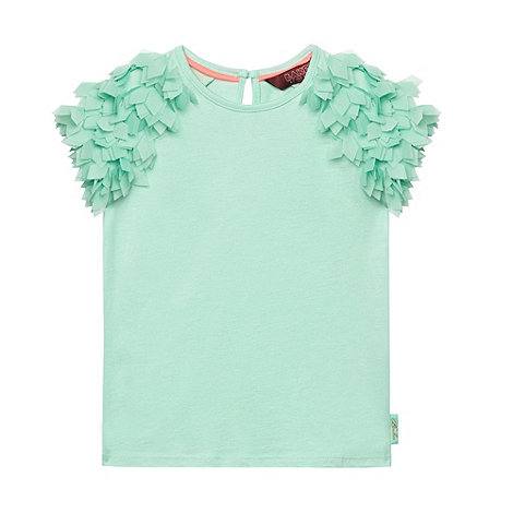 Baker by Ted Baker - Girl+s green feather shoulder top