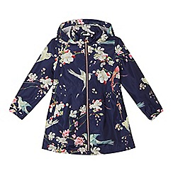 Baker by Ted Baker - Girls' navy floral print mac