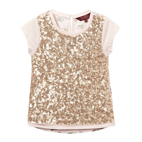 Baker by Ted Baker - Girl+s gold sequin front top