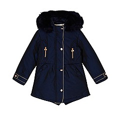 Baker by Ted Baker - Girls' navy parka jacket
