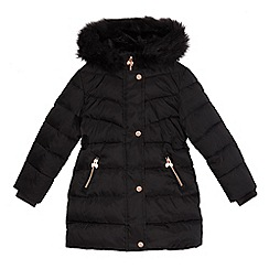 Baker by Ted Baker - Girls' black padded coat