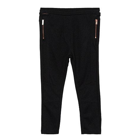 Baker by Ted Baker - Girl+s black ponte zip leggings