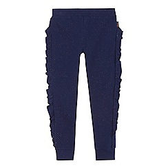 Baker by Ted Baker - Girls' navy frill trim trousers