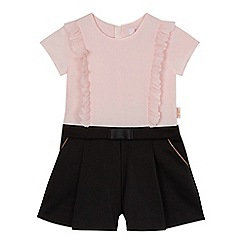 Baker by Ted Baker - Girls' light pink and black playsuit