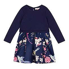Baker by Ted Baker - Girls' navy floral mock skirt dress