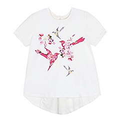 Baker by Ted Baker - Girls' white bird print t-shirt