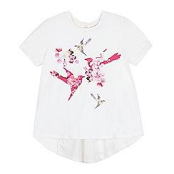 Baker by Ted Baker - Girls' white bird print t-shirt
