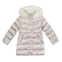 Baker by Ted Baker - Girls' pink pearlescent padded down coat
