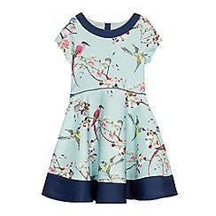 Baker by Ted Baker - Girls' blue bird print scuba prom dress
