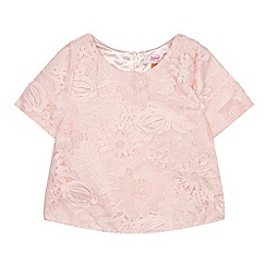 Baker by Ted Baker - Girls' light pink floral lace top