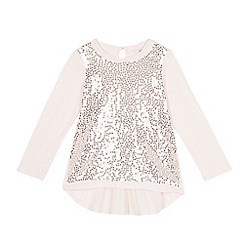 Baker by Ted Baker - Girls' light pink sequinned top