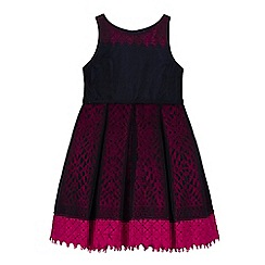 Baker by Ted Baker - Girls' navy lace underlay dress