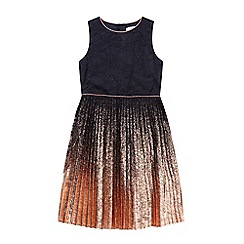 Baker by Ted Baker - Girls' multi-coloured pleated foil dress