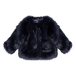 Baker by Ted Baker - Girls' navy faux fur coat