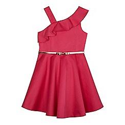 Baker by Ted Baker - Girls' pink asymmetric neck dress
