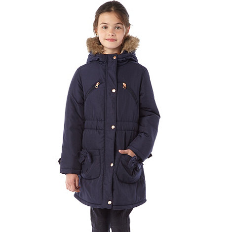Baker by Ted Baker - Girl+s navy padded parka coat