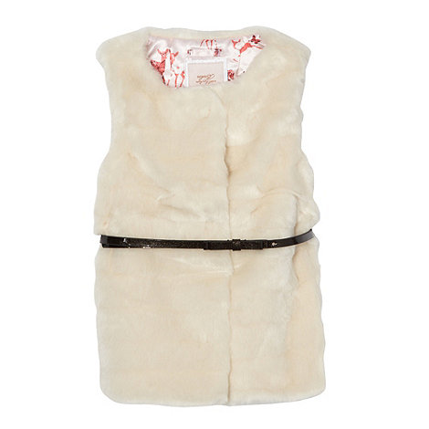 Baker by Ted Baker - Girl+s off white faux fur gilet