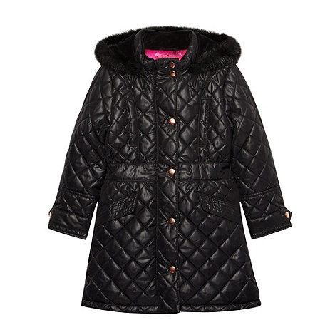 Baker by Ted Baker - Girl+s black quilted parka