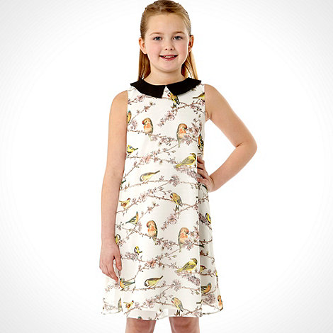 Baker by Ted Baker - Girl+s white bird dress