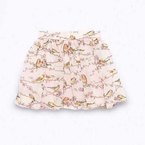 Baker by Ted Baker - Girl+s pink bird patterned skirt
