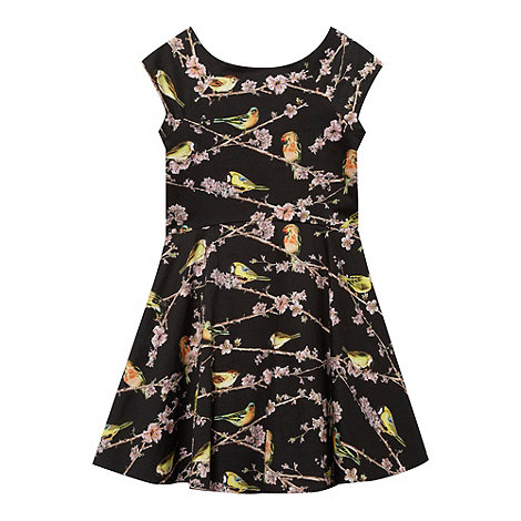 Baker by Ted Baker - Girl+s black birdie print dress