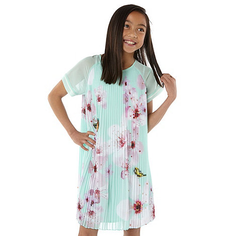 Baker by Ted Baker - Girl+s green orchid pleated dress