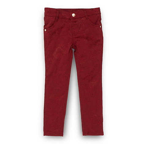 Baker by Ted Baker - Girl+s dark red jacquard trousers