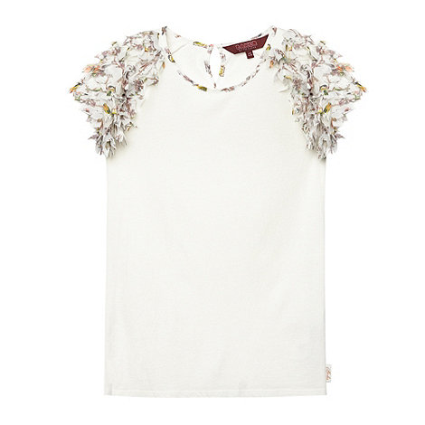 Baker by Ted Baker - Girl+s white bird sleeve top