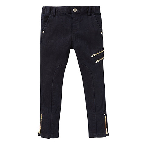 Baker by Ted Baker - Girl+s navy zip jeans