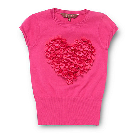 Baker by Ted Baker - Girl+s dark pink petal heart jumper