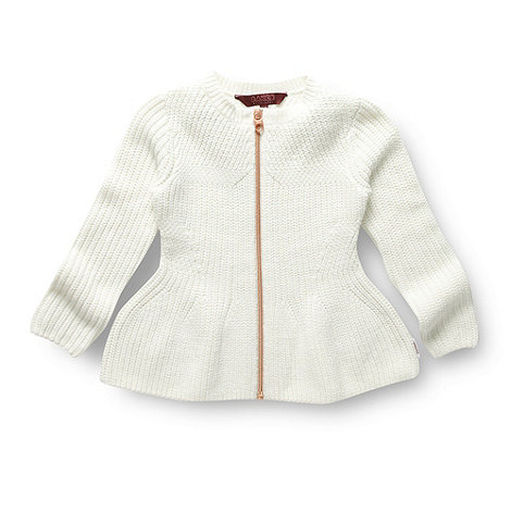 Baker by Ted Baker - Girl+s off white peplum cardigan