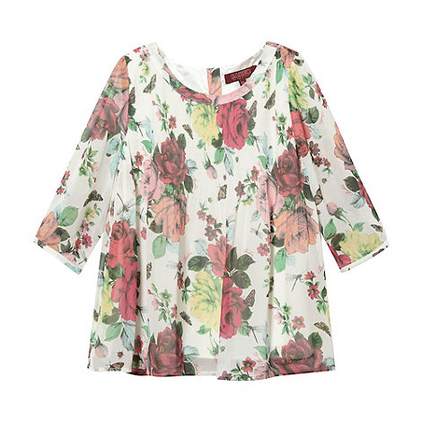 Baker by Ted Baker - Girl+s white floral top