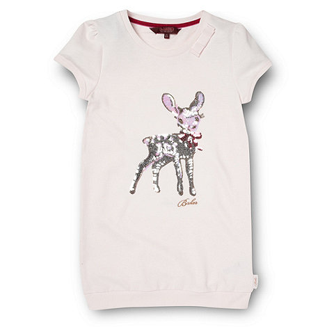 Baker by Ted Baker - Girl+s pink sequin deer sweater