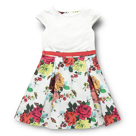 Baker by Ted Baker - Girl+s off white floral skirt dress