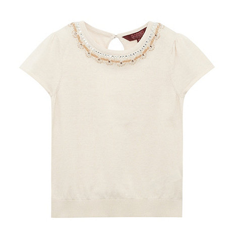 Baker by Ted Baker - Girl+s off white beaded top