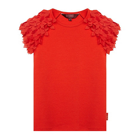 Baker by Ted Baker - Girl+s red feather sleeve top