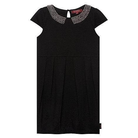 Baker by Ted Baker - Girl+s black ponte collar dress