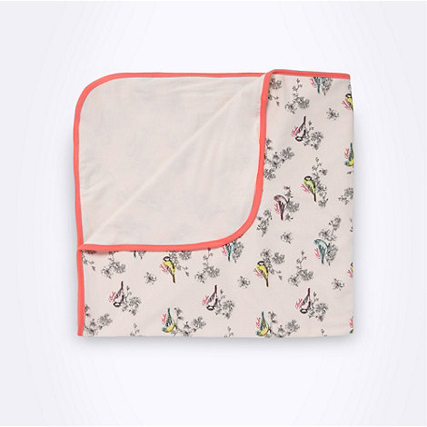 Baker by Ted Baker - Babies pink bird printed blanket