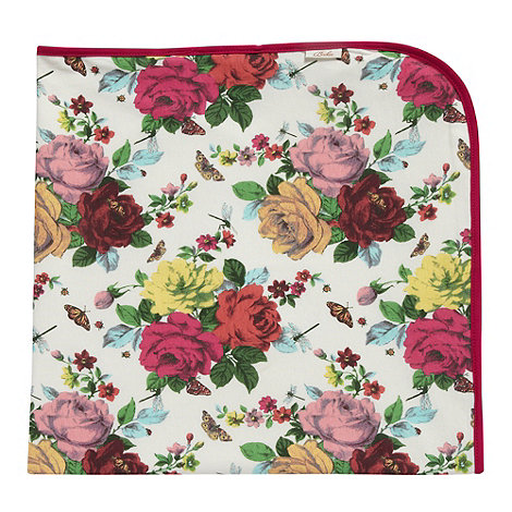 Baker by Ted Baker - Babies dark pink rose printed blanket
