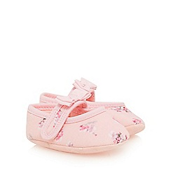 Baker by Ted Baker - Baby girls' light pink floral print booties