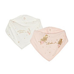 Baker by Ted Baker - Pack of two baby girls' pink and cream fairy print bibs
