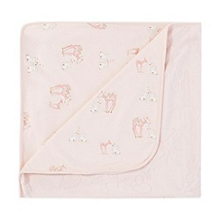 Baker by Ted Baker - Baby girls' light pink printed blanket