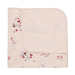 Baker by Ted Baker - Baby girls' light pink floral print blanket