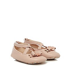 Baker by Ted Baker - Baby girls' pink leather ballet shoes