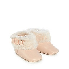 Baker by Ted Baker - Baby girls' light pink faux fur boots