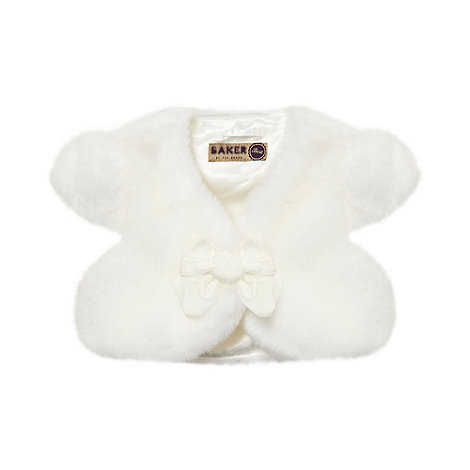 Baker by Ted Baker - Girl+s white faux fur bolero