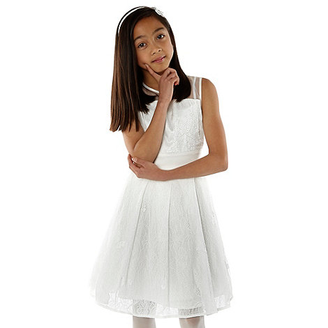 Baker by Ted Baker - Girl+s cream butterfly net dress